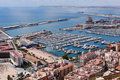 Alicante Harbour and Marina Stock Images