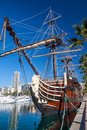 Alicante - Old Sailing Ship Royalty Free Stock Photo