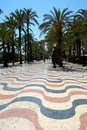 Alicante, Spain - Promenade: Explanada de España Royalty Free Stock Photography