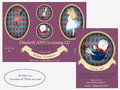 Alice in Wonderland. Royal croquet Birthday Invitation.