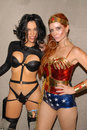 Alicia arden phoebe price as aeon flux with as wonder woman celebritycosplay com members at san diego comic con san diego Stock Images