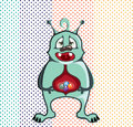 Alien ate candies illustration clip art vector eps file Royalty Free Stock Images
