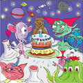 Alien birthday party Royalty Free Stock Photo