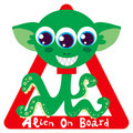 Alien on Board Royalty Free Stock Photo