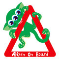 Alien on Board Royalty Free Stock Photography