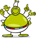 Alien character cartoon illustration of or martian funny Royalty Free Stock Image