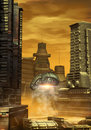 Alien city Royalty Free Stock Photo
