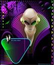 Alien club flyer Royalty Free Stock Photo