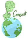 Alien conquest creative design of Stock Images