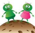 Alien Couple on Planet_01 Stock Photo