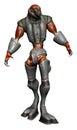 Alien creature in steel armor