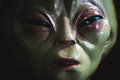 Alien face extreme closeup view Stock Images