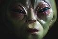 Alien face extreme closeup view Stock Images