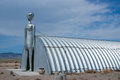Alien figure by alien research center rachel nevada usa – march the tall metal at the located on s extraterrestrial highway Royalty Free Stock Photos