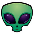 Alien Head Icon Royalty Free Stock Images