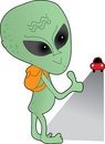 Alien Hitch Hiker Stock Photo