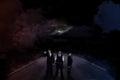 Alien invasion - three secret agents Royalty Free Stock Photo