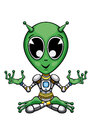 Alien in the lotus pose Royalty Free Stock Photo