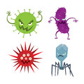 Alien monster vector illustration. Royalty Free Stock Photo
