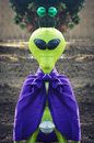 Alien an with a purple cake and green antenae taken at boo at the zoo at the milwaukee county zoo in milwaukee wisconsin Royalty Free Stock Photography