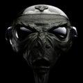 Alien sci fi grey head scene d Stock Photography