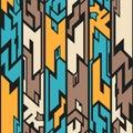 Alien seamless pattern