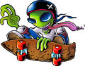 Alien Skater Stock Photography