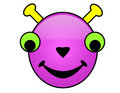 Alien Smileys Royalty Free Stock Photo