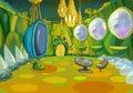 Alien Spaceship Cartoon Interior Royalty Free Stock Photo