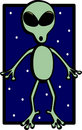 Alien vector illustration Stock Photography