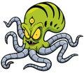 Alien vector illustration of cartoon Stock Photo