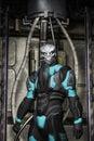 Alien warrior in spacesuit