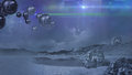 Alien world   in blue Royalty Free Stock Photo