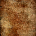 Alienated used paper background with gold ornamental for announcement Royalty Free Stock Images