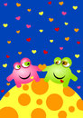 Aliens In Love Valentines Day Card Royalty Free Stock Photography