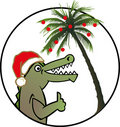 Aligator x-mas Stock Photos