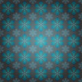 Alighted blue snowflakes motive vector wrap paper Royalty Free Stock Photography