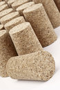 Aligned corks photo of closeup Stock Photography