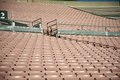 Aligned emty stadium stands Royalty Free Stock Photo