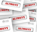 Alimony envelopes payments spousal support legal obligation words on many as legally required or agreed upon financial and to ex Stock Photos