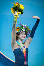 Alina maksymenko of ukraine kyiv august bronze medallist nd rhythmic gymnastics world championship ribbon individual Royalty Free Stock Image