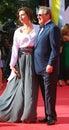 Alisa khazanova and gennady khazanov at moscow film festival actress actor xxxv international red carpet opening ceremony taken on Royalty Free Stock Photography