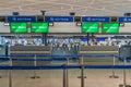 Alitalia check-in counter at Narita international airport Royalty Free Stock Photo