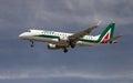 Alitalia Cityliner Embraer ERJ-175 STD Royalty Free Stock Photo