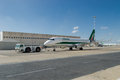 Alitalia plane and push back Royalty Free Stock Photo