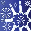 Alive snowflakes Stock Photography