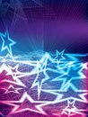 Alive star illustration abstract sleeping wake up colorful lines background Stock Photos