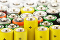 Alkaline batteries. Chemical waste Royalty Free Stock Images