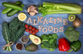 Alkaline foods Royalty Free Stock Photo