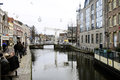 Alkmaar main canal netherlands is a picturesque city in the province of noord holland famous for its traditional cheese market Stock Images
